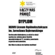 Dyplom - podziękowanie za udział w akcji Żonkile