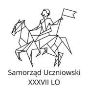 Logo samorządu uczniowskiego, grafika - postać na koniu symbolizująca patrona szkoły
